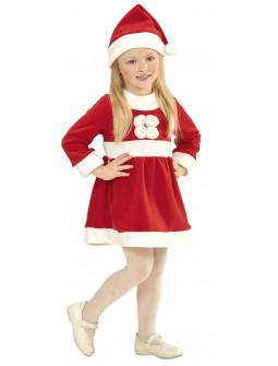 Disfraz de Mamá Noel con Pompones para Niña