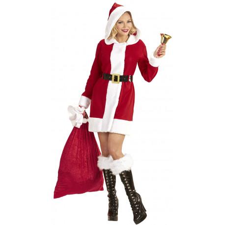 Disfraz de Mamá Noel con Capucha para Mujer