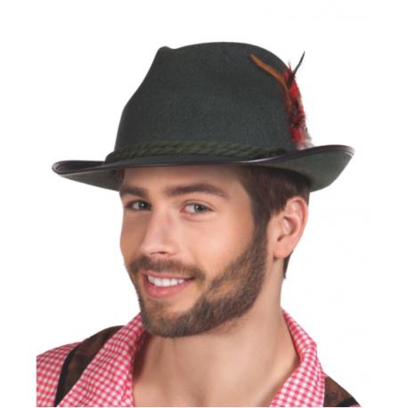 Sombrero Bávaro Verde con Plumas