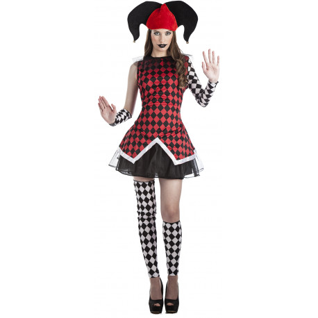 Disfraz de Arlequín Rombos para Mujer