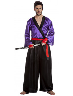 Disfraz de Samurai Morado para Hombre