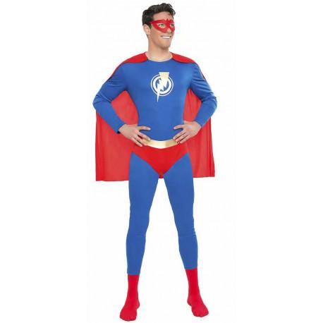 Disfraz de Superhéroe Azul y Rojo para Hombre