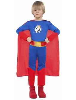 Disfraz de Superhéroe Azul y Rojo para Niño