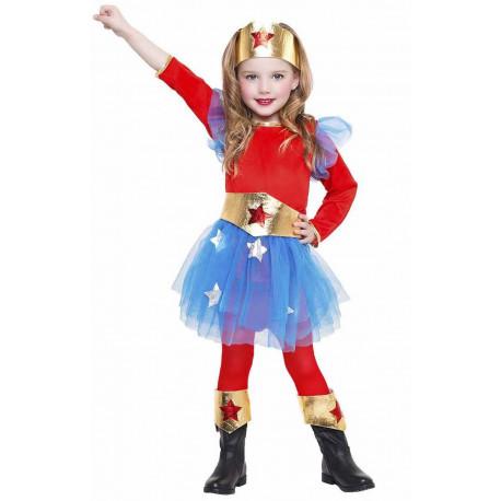 Disfraz de Wonder Girl para Niña