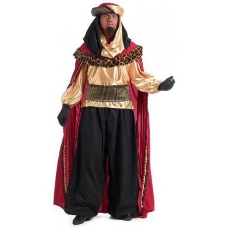 Disfraz de Rey Mago Baltasar de Alta Calidad para Hombre