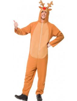 Disfraz de Reno Pijama para Adulto