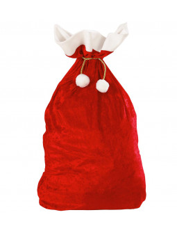 Saco de Papá Noel de Terciopelo Rojo