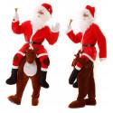 Disfraz de Reno con Papá Noel a Hombros