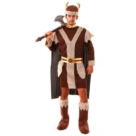 Disfraz de Vikingo Marrón para Hombre