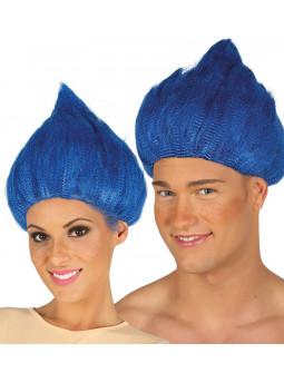 Peluca Azul de Troll
