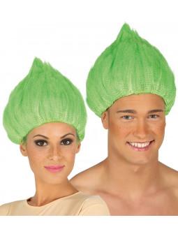 Peluca Verde de Troll
