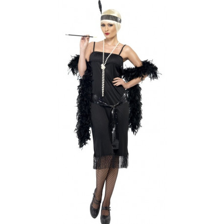 Disfraz de Charlestón Negro para Mujer