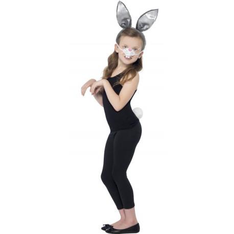 Kit de Disfraz de Conejo con Orejas, Cola y Nariz