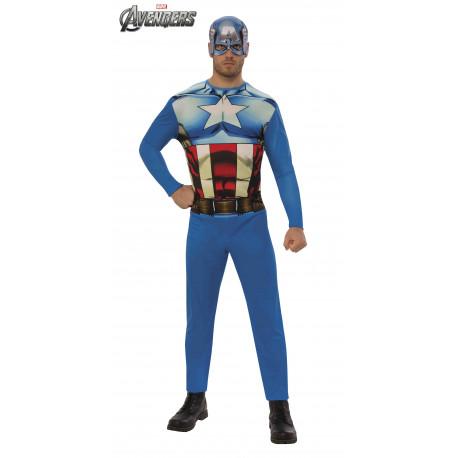 Disfraz de Capitán América Clásico para Hombre