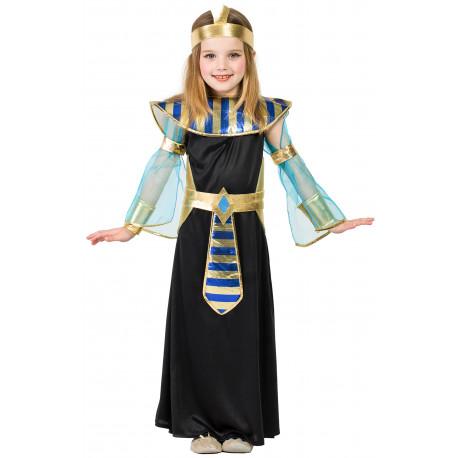 Disfraz de Egipcia Negro para Niña