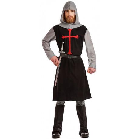 Disfraz de Cruzado Medieval Negro para Adulto