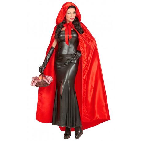 Capa Roja con Capucha Premium