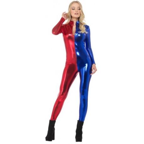 Malla de Harley Quinn Roja y Azul para Mujer