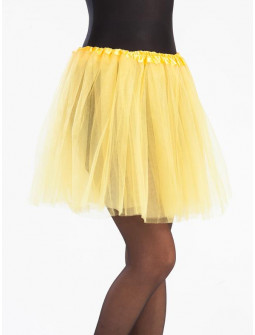 Tutú Amarillo Largo de 40cms para Mujer