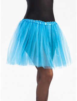 Tutú Azul Celeste Largo de 40cms para Mujer