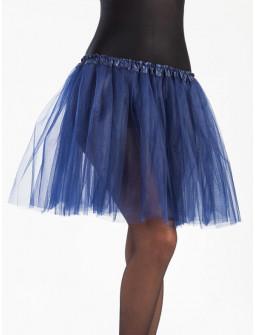 Tutú Azul Oscuro Largo de 40cms para Mujer