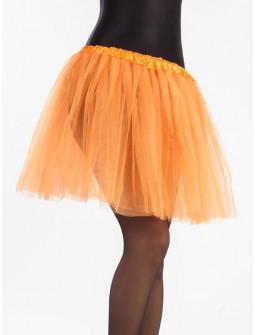 Tutú Naranja Largo de 40cms para Mujer