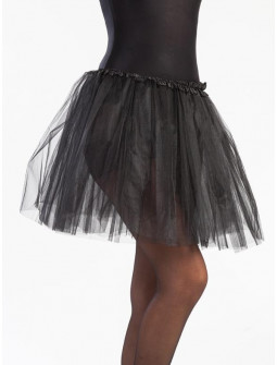 Tutú Negro Largo de 40cms para Mujer