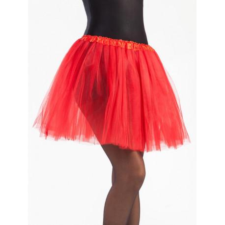 Tutú Rojo Largo de 40cms para Mujer