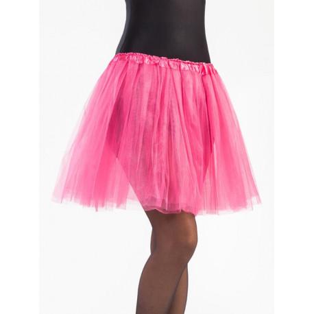 Tutú Rosa Fucsia Largo de 40cms para Mujer