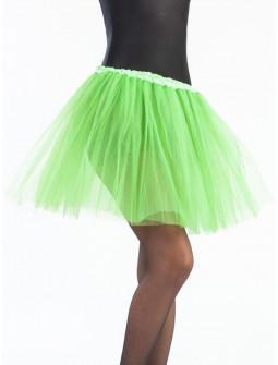 Tutú Verde Lima Largo de 40cms para Mujer