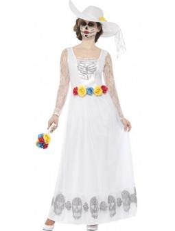 Disfraz de Novia Catrina Blanca para Mujer