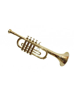 Trompeta Dorada de Plástico con Efecto Real