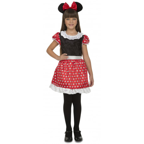 Disfraz de Minnie con Rojo y Negro Infantil