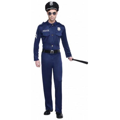 Disfraz de Policía Americano para Hombre
