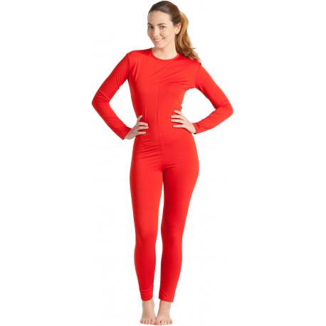 Malla de Cuerpo Entero Roja para Mujer