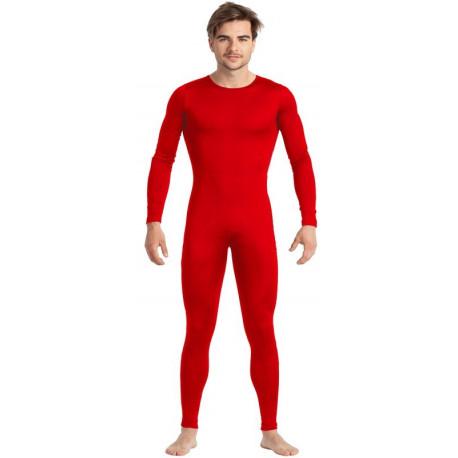 Malla de Cuerpo Entero Roja para Hombre