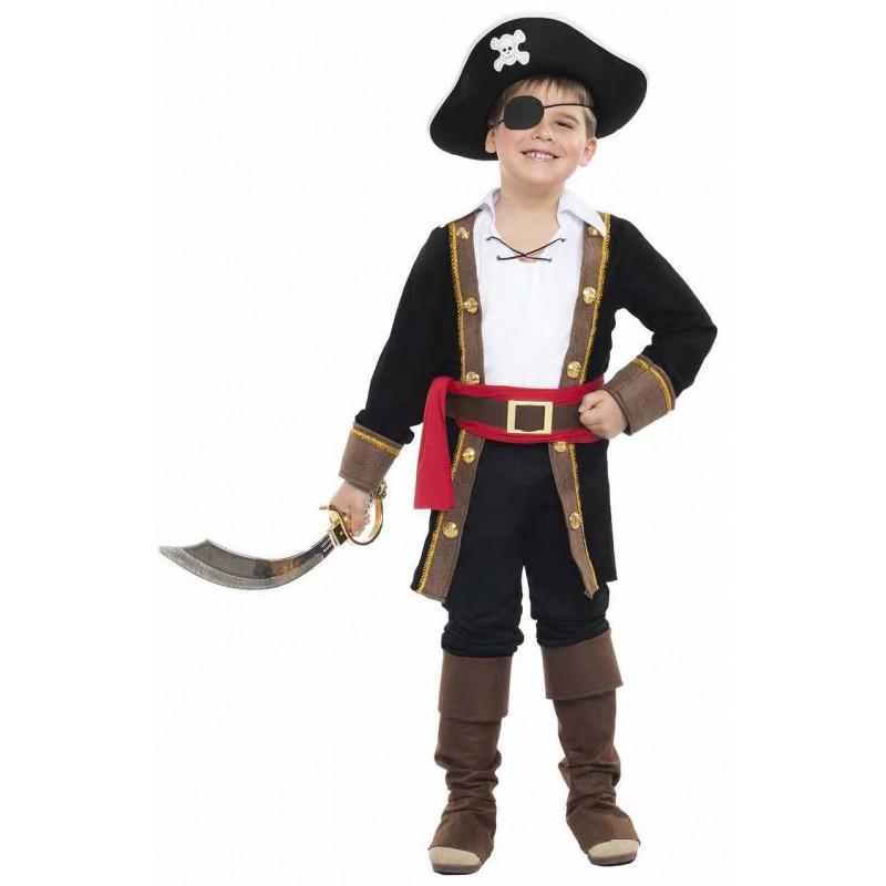 Disfraz de pirata con abrigo negro para ni o comprar - Pirata colorazione pirata stampabili ...