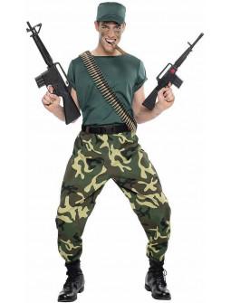 Disfraz de Militar Camuflaje para Hombre