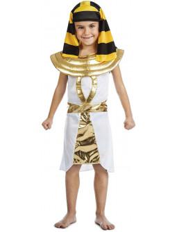 Disfraz de Egipcio Dorado y Blanco para Niño