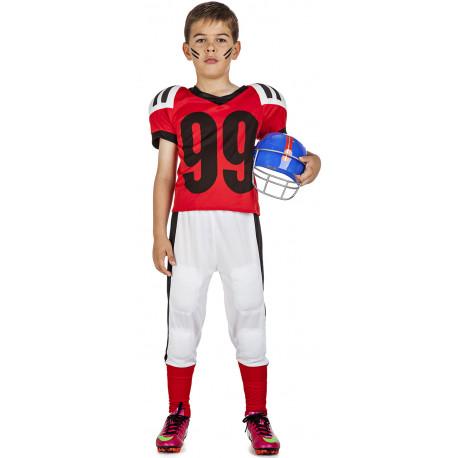 Disfraz de Jugador de Rugby Rojo Infantil