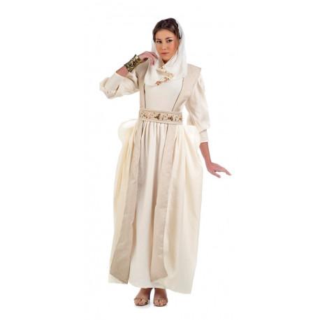 Disfraz de Reina Medieval Blanca para Mujer