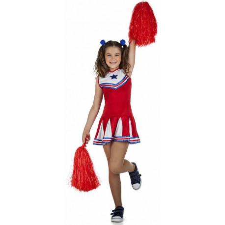 Disfraz de Animadora Rojo para Niña