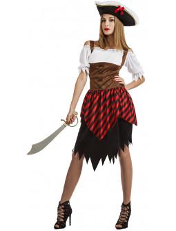Disfraz de Pirata con Corpiño para Mujer