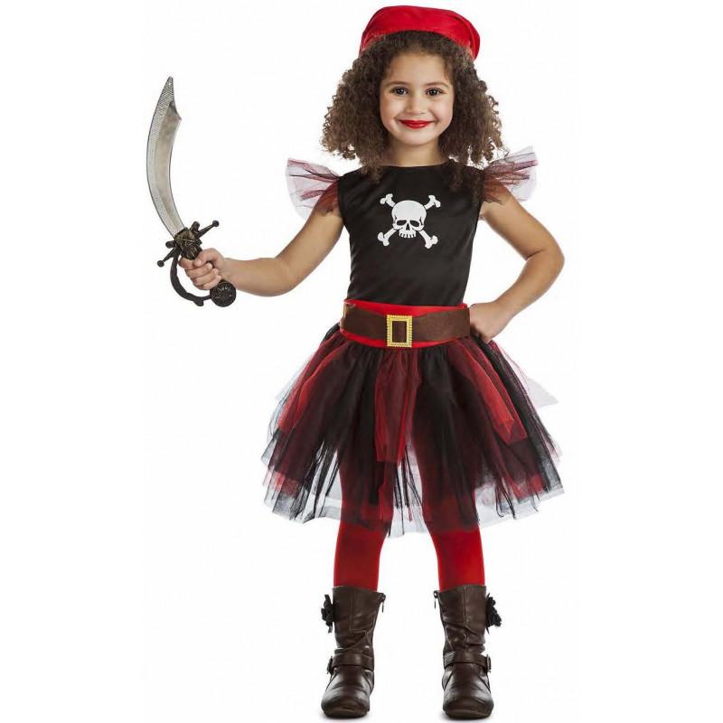 Disfraz de pirata con tut para ni a comprar online - Maquillaje pirata nina ...