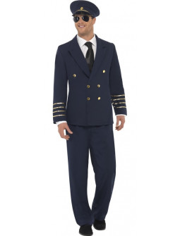 Disfraz de Piloto Capitán de Avión para Hombre