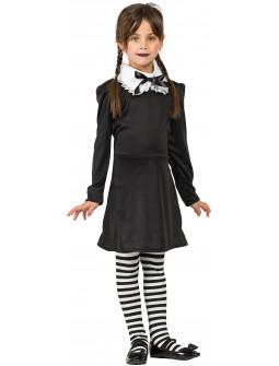 Disfraz de Miércoles Addams para Niña con Medias