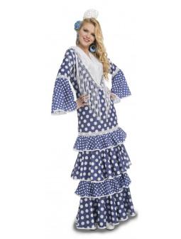 Disfraz de Sevillana Azul Oscura para Mujer