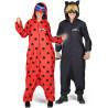 Disfraz de Cat Noir Pijama para Adulto