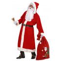Disfraz de Santa Claus - Lujo - con peluca y barba