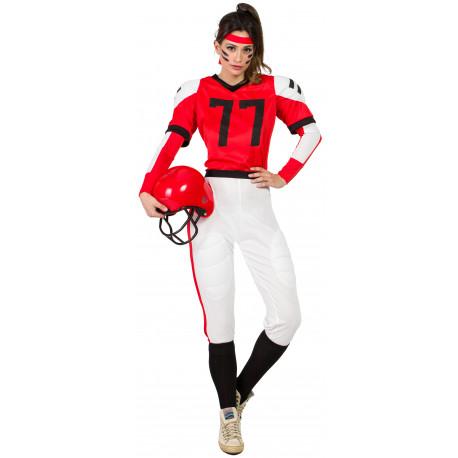 Disfraz de Jugadora de Rugby para Mujer